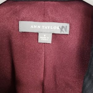 Ann Taylor Jackets & Coats - Ann Taylor Dark Gray Pinstripe 3 Button Blazer